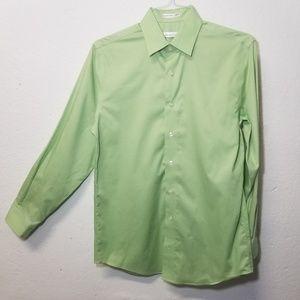KENNETH COLE Green Dress Shirt Medium